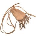 Leather Indian Medicine Bag With Fringe and Strap  30373