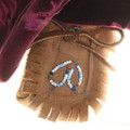 Native American Woman Doll Beaded Leather Moccasins 30584