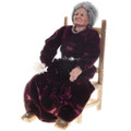 Vintage Navajo Old Woman on Chair Southwest Doll 30584