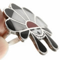 Zuni Sunface Sterling Silver Inlay Ring 30622