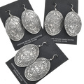 Native American Silver Kokopelli Bear Earrings 30635