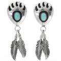 Turquoise Bear Paw Earrings 30637