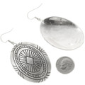 Hand Made Native American Silver Earrings 30639