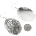 Hand Made Native American Silver Earrings 30639