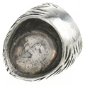 Sterling Navajo Made Ring with Groove Pattern 30655