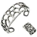 Vintage Sandcast Sterling Ring Bracelet Set 30699