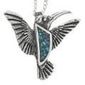 Turquoise Hummingbird Pendant 30910