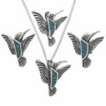Turquoise Sterling Silver Hummingbird 30910