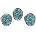 Spiderweb Turquoise Men's Ring 30935