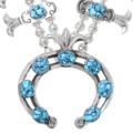 Spiderweb Turquoise Squash Blossom Necklace 30938