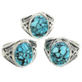 Turquoise Silver Rings 30952
