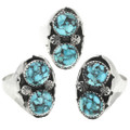 Turquoise Native American Rings 30954