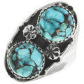 Turquoise Sterling Silver Navajo Ring 30954