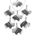 Native American Indian Buffalo Silver Pendants 30960