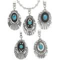 Navajo Overlay Turquoise Set Pendants 30965
