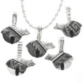 Navajo Richard Singer Sterling Overlay Pendants 30969