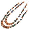 Native American Shell Gold Necklace 31011