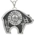 Navajo Silver Sunface Pendant 31020