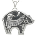 Eagle Kachina Sterling Navajo Pendant 31021