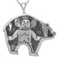 Kachina in Bear Design Sterling Silver 31022