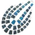 Blue Jasper Slab Southwest Necklace 31152