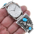 Turquoise Sterling Silver Men's Watch 31202