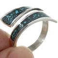 Turquoise Chip Inlay Bypass Ring 31205