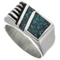 Turquoise Chip Inlay Ring 31206
