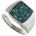 Inlaid Silver Turquoise Ring 31209