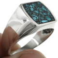 Turquoise Chip Inlay in Sterling Silver 31209
