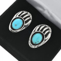 Turquoise Bear Claw Cuff Links 31225