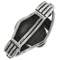 Heavy Solid Sterling Silver Native American Cuff Signed 31240