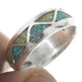 Inlaid Silver Turquoise Opal Ring 31276