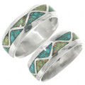 Sterling Silver Opal Inlay Band 31276