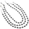 Navajo Crazy Horse Hematite Necklace 31291