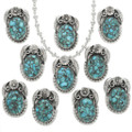 Western Turquoise Silver Pendants 31309
