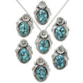 Turquoise Southwestern Pendants with Chain 31316
