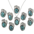 Spiderweb Turquoise Sterling Ladies Pendants 31320