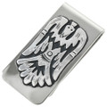 Navajo Hand Made Sterling Silver Money Clip 31333