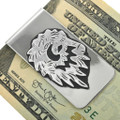 Navajo Hand Cut Overlay Silver Money Clip 31336
