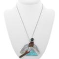 Zuni Turquoise Pendant Brooch 31341