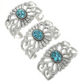 Spiderweb Turquoise Set in Sterling Silver Bracelets 31367