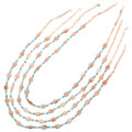 Navajo Made Pink Shell Turquoise Necklace 31394