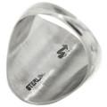 Navajo Made Eagle Design Silver Ring 31420
