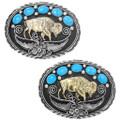 Buffalo Turquoise Belt Buckle 31436