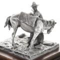 Cowboy Horse Saddling Sculpture 31454