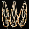 Bone Necklace with Antler Horn Beads Light Colors 31479