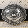 Old Pawn Style Concho Leather Hatband 31482