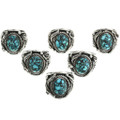Southwest Blue Spiderweb Turquoise Rings 31496