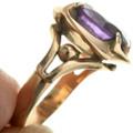 Vintage Amethyst Gold Ladies Ring 31498